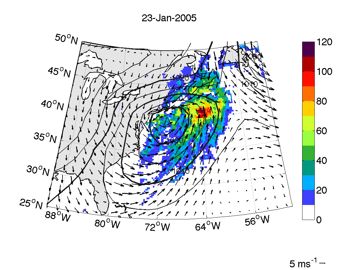 Atmosphere and climate extratropical cyclones